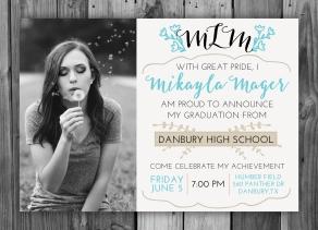 Mikayla Graduation Invitation