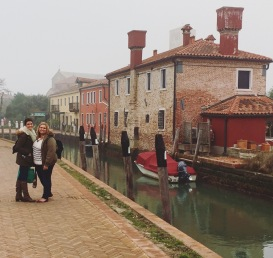 The backpack on the Island of Torcello.